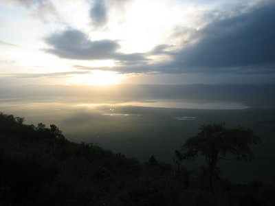 Ngorongoro crater at sunrise, Tanzania