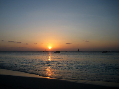 Sunset on Zanzibar, Tanzania