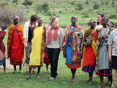 Masai women dancing, Kenya