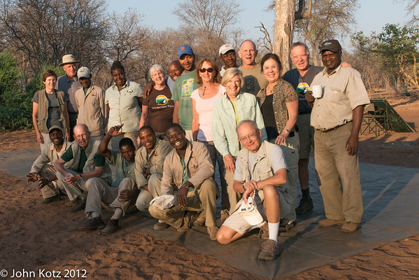 Our group. Our two guides are in the back row. Mr. Fish is on the right and Stanley Dube is fourth from the right.
