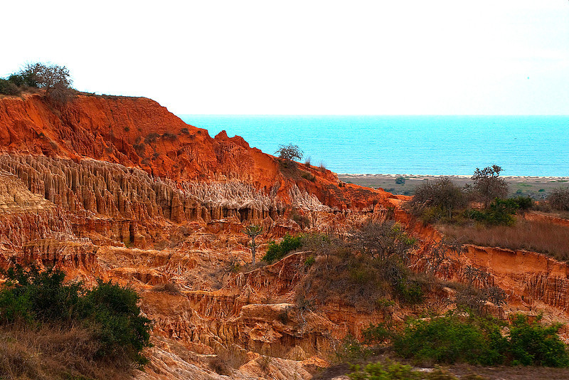 """Miradouro da Lua south of Luanda.  I think the name translates to something like """"Golden View of the Moon.""""  This eroded topogragraphy extends for miles along the coast."""