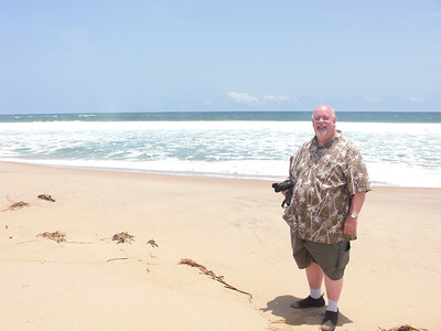 Kevin on beach south of Luanda