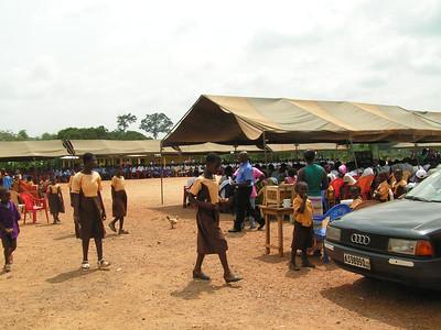 Avi in Kumasi addresses the masses