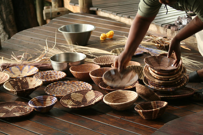 Baskets Woven by Tubu Tree Staff
