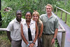 Guide Lazarus and Chitabe Camp Managers Shaa, Celine and Ryan