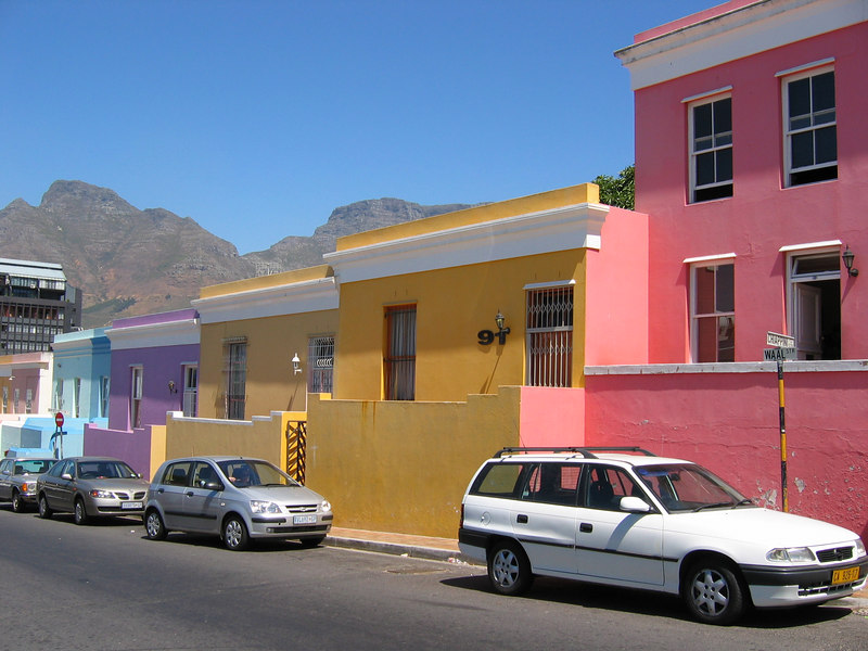 Colorful BoKaap Section of Cape Town