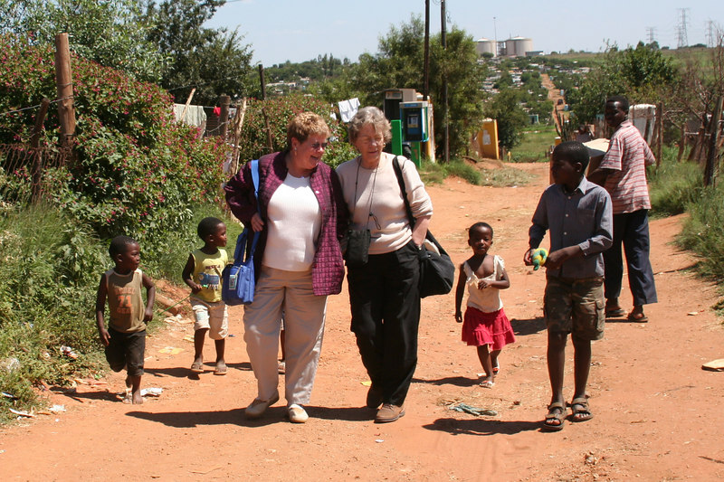 Eileen and Aleida Walk Through Soweto