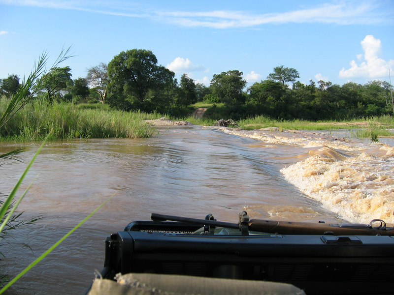 Sand River...Too High To Cross Today!