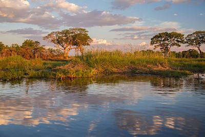 Okavango Delta, Botswana Near sunset on the Okavango Delta..