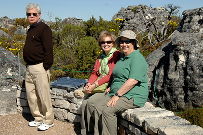 EPV0571 Mountaineers Resting After Successfully Summiting Table Mountain