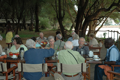 Great food,  fine company, and a beautiful setting - what could be better?