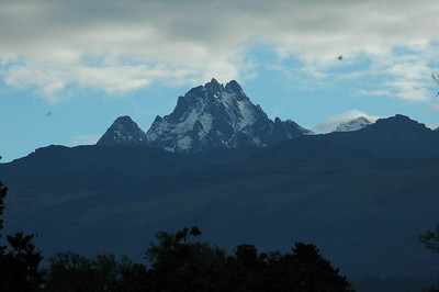 After leaving Nairobi, we headed north to the forested slopes of Mt. Kenya where we stay 2 nights in the Mountain Lodge. Mt. Kenya is the second highest peak in all of Africa. Our hotel here was located next to a popular waterhole where we could observe elephant, Syke's monkey, and other mammals.