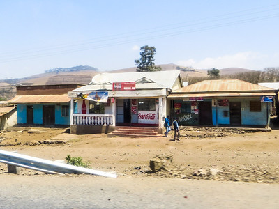 Tanzania roadside stores were a little more modern.