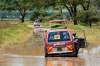 Our companion van got stuck in a river crossing. We empathized, deeply.