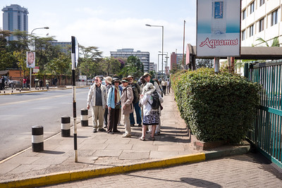 The group undertook a walking tour of Nairobi City Center