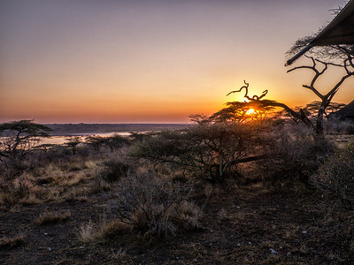 Sunrise over Lake Masek. As Always, we were up early.