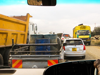 Congestion as we near Nairobi