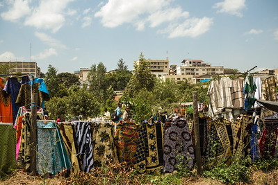 Outdoor Masai wholesale market, where the locals shop. We could not stop to shop there.