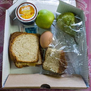 Box lunches were edible - barely.