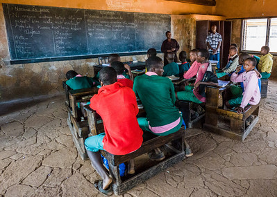 The school was in summer recess, but this group attended an exam preparation class