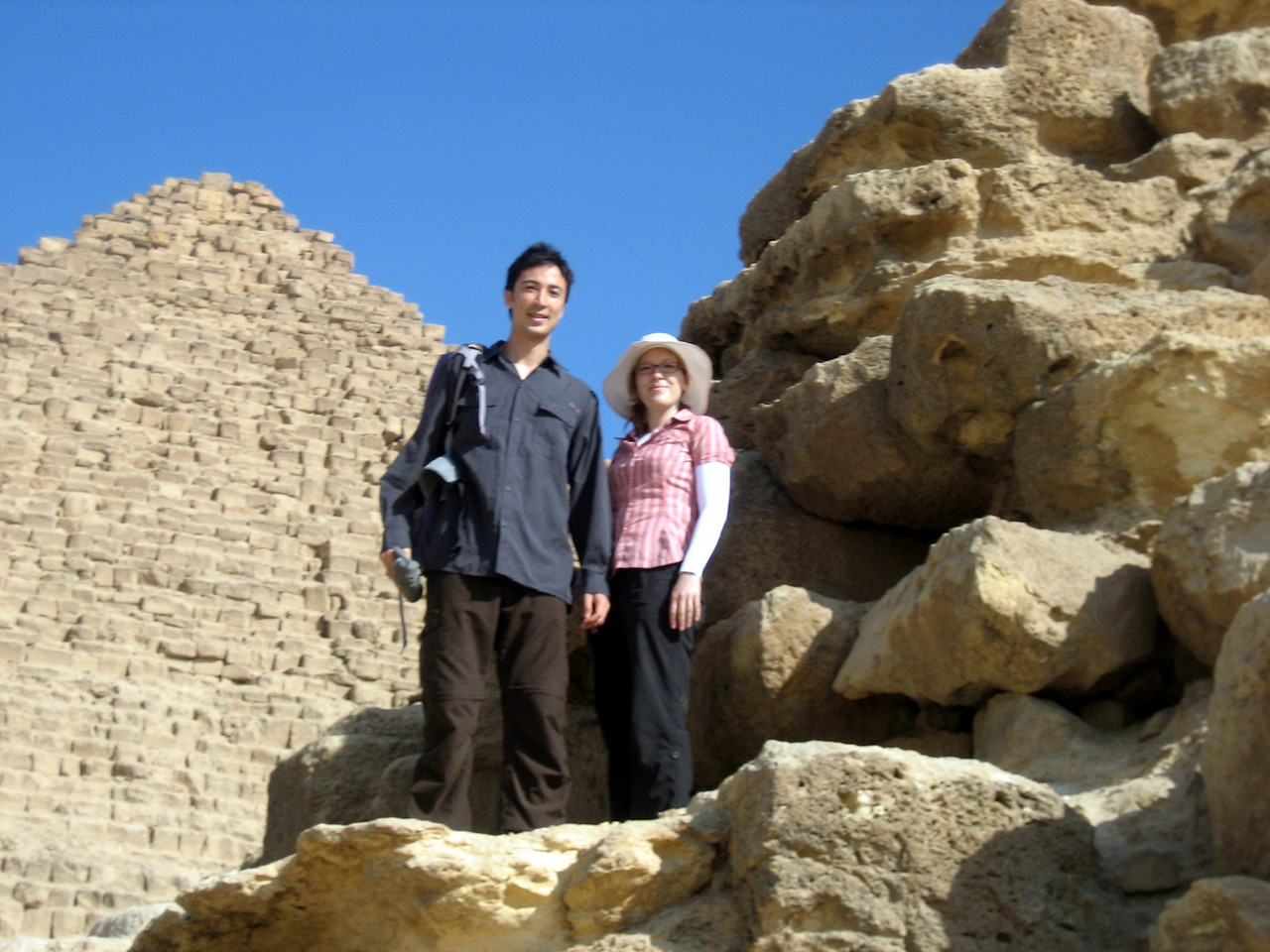 Looking around at some of the smaller pyramids at Giza