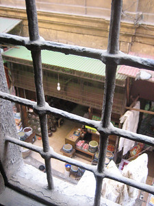 View to the spice markets, from Mosque Al Ghouri, Cairo