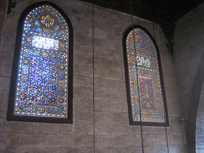 Stained glass windows in Mosque Al Ghouri, Cairo