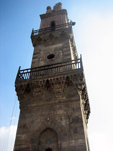 Minaret on Mosque Al Ghouri, Cairo