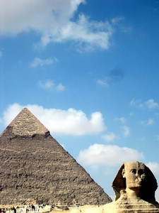 The Great Sphinx of Giza and the Pyramid of Khafre