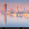 Egypt - Cairo - القاهرة - al-Qāhira - Capital of Egypt & Largest city in Middle East - Modern Downtown district - Cityscape along river Nile