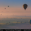 Egypt - Luxor - Hot air balloon flight over Nile West Bank & Tem