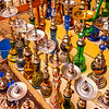 Egypt - Luxor - الأقصر - al-Uqṣur - Bazaar - Souq - Souk - Market place - Shisha - Narghile, water pipe, hookah, hubble bubble - Tobacco smoking originating from the Middle East  involving burning wood, coal or charcoal to heat up specially prepared tobacco (shisha)