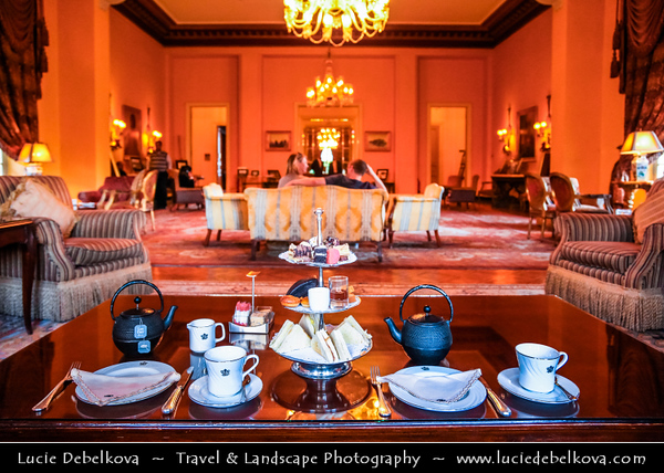 Egypt - Luxor - Sofitel Winter Palace Luxor - Built in 1886 on the Nile banks in a tropical garden is a magical experience of history luxury that hosted royalties and celebrities - Afternoon Tea
