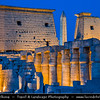 Egypt - Luxor - الأقصر - al-Uqṣur - Ancient Thebes - طيبة - UNESCO World Cultural Heritage site on banks of river Nile - Luxor Temple - Large Ancient Egyptian temple complex located on the east bank of the Nile