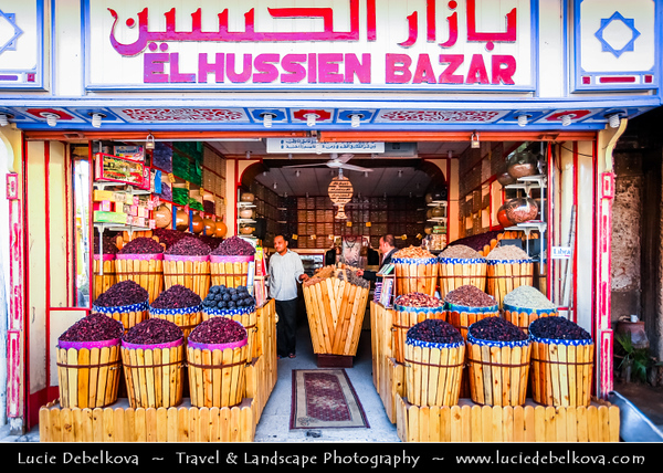Egypt - Luxor - El Souk - Souq - Tradition open air market with various local and tourist products and souvenirs - طيبة - UNESCO World Cultural Heritage site on banks of river Nile - الأقصر - al-Uqṣur
