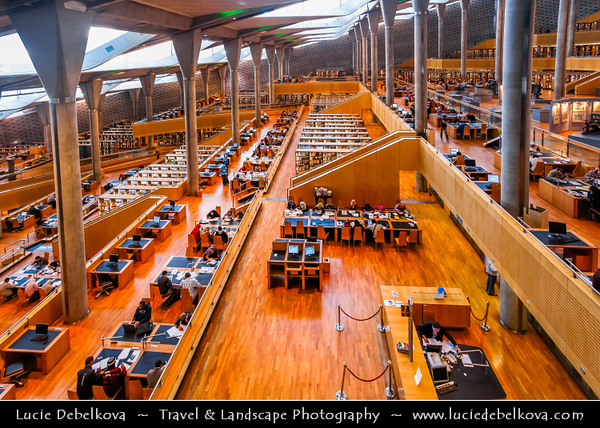 Egypt - Alexandria - al-Iskandariyya - Αλεξάνδρεια - Ancient City on Shores of Mediterranean Sea - The New Library of Alexandria - The New Bibliotheca Alexandrina