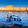 Egypt - Alexandria - al-Iskandariyya - Αλεξάνδρεια - Ancient City on Shores of Mediterranean Sea - Seafront near Fort Qaitbey - The Citadel of Qaitbey (Qaytbey, Quait-bey)