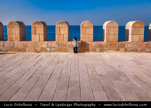 Egypt - Alexandria - al-Iskandariyya - Αλεξάνδρεια - Ancient City on Shores of Mediterranean Sea - Fort Qaitbey - The Citadel of Qaitbey (Qaytbey, Quait-bey)