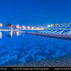 Egypt - Alexandria - al-Iskandariyya - Αλεξάνδρεια - Ancient City on Shores of Mediterranean Sea - The New Library of Alexandria - The New Bibliotheca Alexandrina  - Dusk - Twilight - Blue Hour - Night