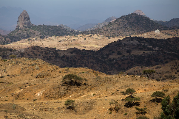 Rural landscape on the way to the town of Keren in northern Eritrea.