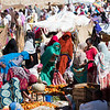 Shopping for vegetables at the Monday Market in the town of Keren in northern Eritrea.