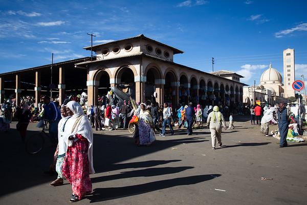 Shoppers at the weekly bazaar in the city of Asmara in Eritrea.