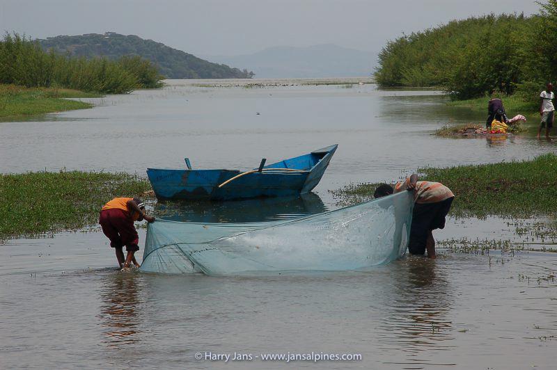 fishing in Lake Ziway, 1755m