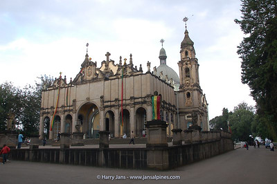 Church with tomb of Haile Selassie