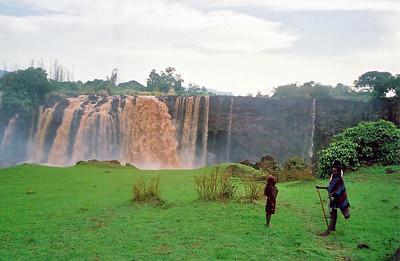 blue nile falls, near gonder, ethiopia