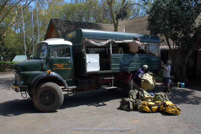 our transport to entrance Mnt. Kenya Park