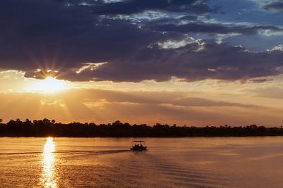 Sunset on Zambezi River