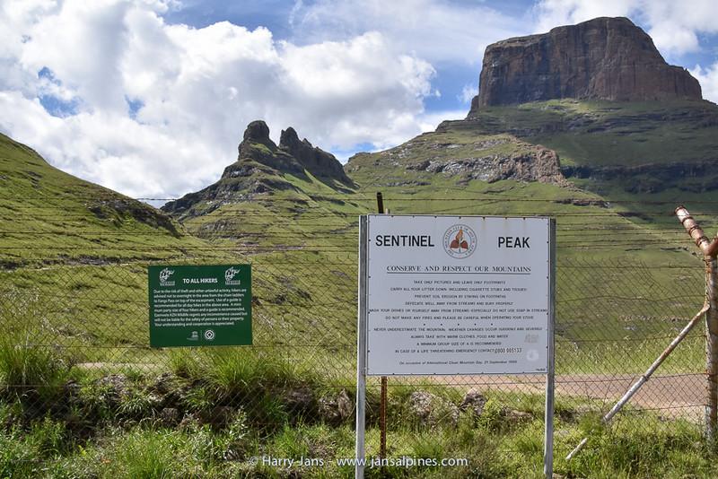 Witsieshoek, Sentinel Peak