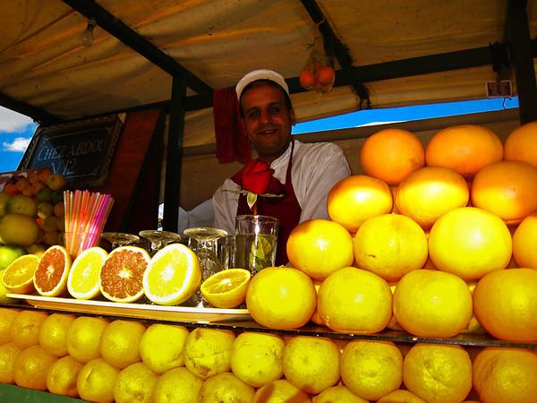 Orange juice vendor