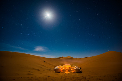 Moon over Merzouga